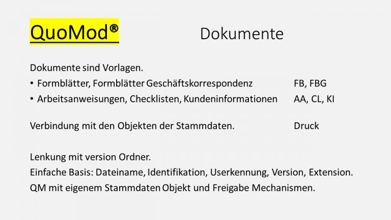 QuoMod Lenkung von Dokumenten Folie Dokumente 170927