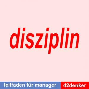 Über die Disziplin: Leitfaden für Manager Titelbild