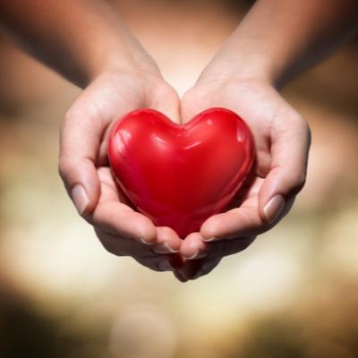 Urheber Herz in Herz warmer Hintergrund Bild: rfphoto